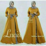 Newone Sale Maxi Lucia Mustard Mint Gamis Murah Muslim Maxi Dress Terbaru