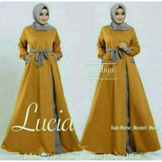 Promo Newone Sale Maxi Lucia Mustard Mint Gamis Murah Muslim Maxi Dress Indonesia
