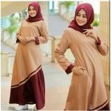 Beli Newone Sale Maxi Kayla Mustard Maron Brown Gamis Murah Muslim Maxi Dress Newone Online