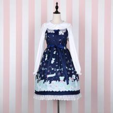 Spesifikasi Salju L*l*t* Kelinci Rumah Lembut Sling Gaun Biru Tua Set Lengkap Untuk Mengirim Tiga Warna Dasi Kupu Kupu Dasi Kupu Kupu Bagus