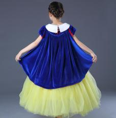 Salju Putri Kasa Gadis Ulang Tahun Pesta Bola Gown Gaun (Dua Sisi Kain Beludru Jubah)