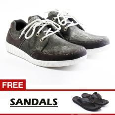 SAlVO sepatu sneaker denim abu-abu free sandal