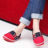 Toko Salvora Sepatu Kasual Sal Hitam Merah Termurah