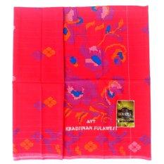 Samarinda Sutra Sarung Tenun - Merah Delima