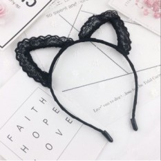 Same paragraph korean椹泤鑸抦other is superman black cute lace hair band headband children headdress hair accessories (Lace hair bands)