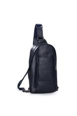 Jual Sammons 190165 06 Pria Kulit Dompet Sling Pack Messenger Bag Blue Murah