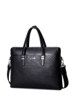 Model Sammons Men Real Genuine Leather Embossed Purse Satchel Briefcase Tote Hand Bag Laptop Black Terbaru