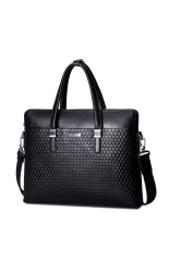 Situs Review Sammons Men Real Genuine Leather Embossed Purse Satchel Briefcase Tote Hand Bag Laptop Black