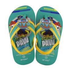 Sandal Anak Flip Flop Paw Patrol Limited Edition Paw Patrol 21 Turkis