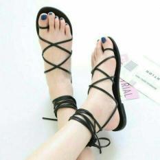 Toko Sandal Cantik Hitam Tali Sepatu Sandal Santai Pesta Wanita Lengkap