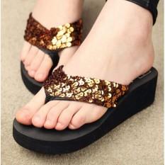 Sandal capit spon bata beling emas BqWG Hitam3740