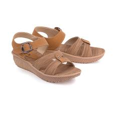 Tips Beli Sandal Casual Wedges Wanita Blackkelly Lte 767 Coklat Pu Pvc