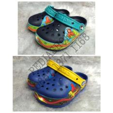 Sandal Crocs Anak Crocslight Dinosaur Original (Grosir Dan Eceran) - Elpldp