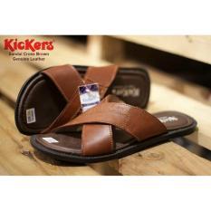 Sandal Cross Genuine Leather Kickers - Brown -