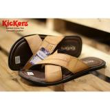 Toko Sandal Cross Genuine Leather Tan Kickers Online