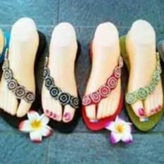 Sandal Elastik Bali Miring Biasa