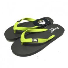 Sandal Fipper Classic / Sendal Jepit / Sendal Pantai Black Lime Green