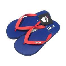 Sandal Fipper Wide Navy Black Red (Wdnvy01)