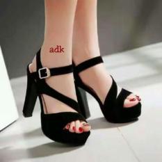 Jual Beli Sandal High Heels Wanita Sdh155 Hitam Di Indonesia