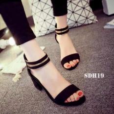 Review Sandal High Heels Wanita Sepatu Sendal Wanita Sdh19 Hitam Terbaru
