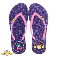 Sandal Japit Flip Flop Surfer Girl Limited Edition SG 166 [Ungu]