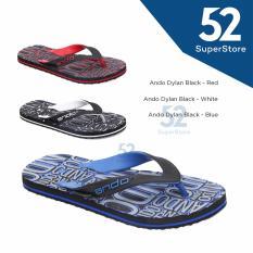 Spesifikasi Sandal Jepit Dylan Hitam Biru Size 38 42 Beserta Harganya