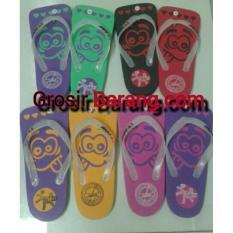 Sandal Jepit Motif Emoticon Souvenir Jogja