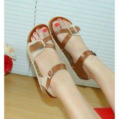 Harga Sandal Jepit Santai Nafiza Coklat Cream Nfz 05 Online