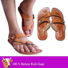 Sandal Kulit Wanita 100% Bahan Kulit Sapi Asli Magetan - KD408