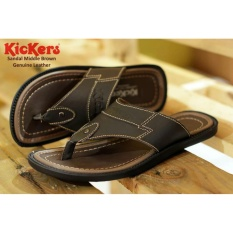 Sandal Middle Brown Genuine Leather Kickers