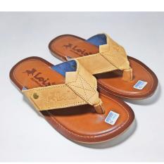 Beli Sandal Pria Casual Kulit Asli Japit Jepit Brown Lois Cicil