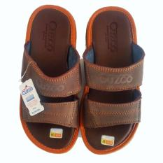 Beli Sandal Pria Kulit Asli Friendship Chocolate Brown Online