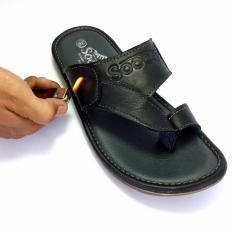 Beli Sandal Pria Kulit Asli Sandal Kulit Pria Socco Hitam Lengkap
