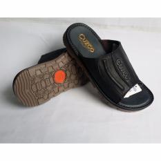 Spesifikasi Sandal Pria Selop Kulit Sapi Hitam Terbaik