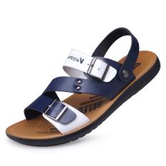 Jual Fashion Musim Panas Mantra Warna Bernapas Sepatu Biru Biru Sepatu Pria Sepatu Sendal Oem Asli