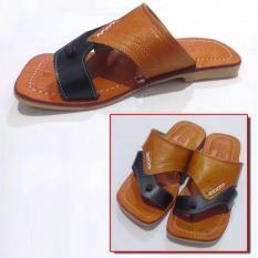 Sandal Kulit Pria 100% Bahan Kulit Sapi Asli Magetan_KD404