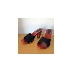 Tips Beli Sandal Sendal Heels Kayu Mahoni Wanita Cewe Selop Kop Kelom 11 Cm
