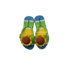 Sandal Sendal Sancu Boncu Lucu Jepit Boneka Anak Sun Matahari Hijau
