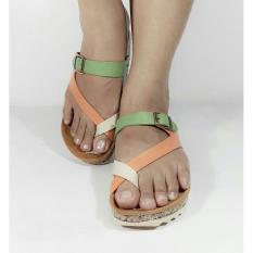 Sandal / Sendal Santai Model Carvil Hijau Orange