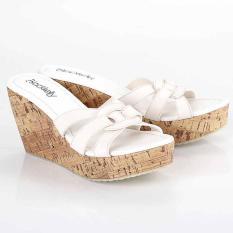 Sandal Sendal Wedges Wanita Cewek Cewe Trendy Warna Putih LMS 550 BY