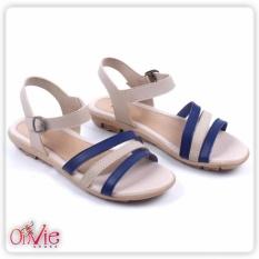 Sandal Sepatu Flat Tali straps 3 Navy