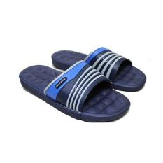 Sandal Slop - Sendal Slop New Era Adilette Slides In Navy Blue