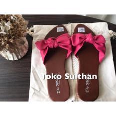 Sandal Teplek Flat Demode Pita - Pink