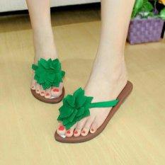 Spesifikasi Sandal Teplek Jepit Bunga Rbm04 Green Terbaik
