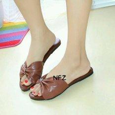 Sandal Teplek Selop Pita Besar Brown NFZ-PitaBesar