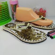 sandal wanita batik jogja tali putih