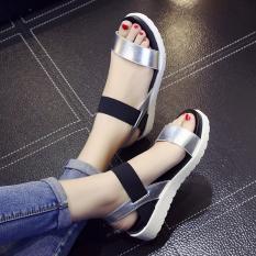 Toko Sederhana Dalam Yang Berat Itu Datar Dengan Sandal Perak Perak Sepatu Wanita Sendal Wanita Termurah Tiongkok