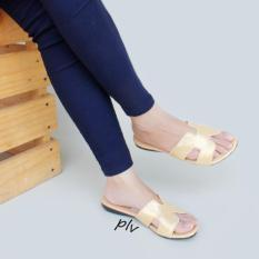Dapatkan Segera Sandal Wanita Flat Hm Gold