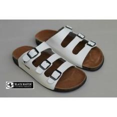 Sandal Wanita Flip Flop Sandal Pria Jepit Casual  Vintage Black Master 03 Putih Original
