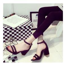 Diskon Sandal Wanita High Heels Hitam Ht04 Branded
